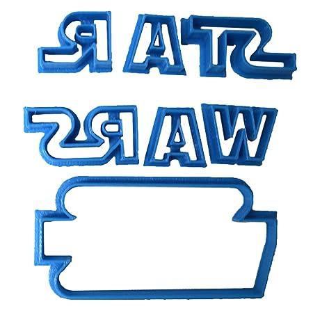 Cuticuter Star Wars Cortador de Fondant, Azul, 8x7x1.5 cm