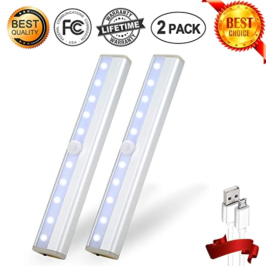 Amazon.com: Lote de 10 luces LED con sensor de movimiento ...