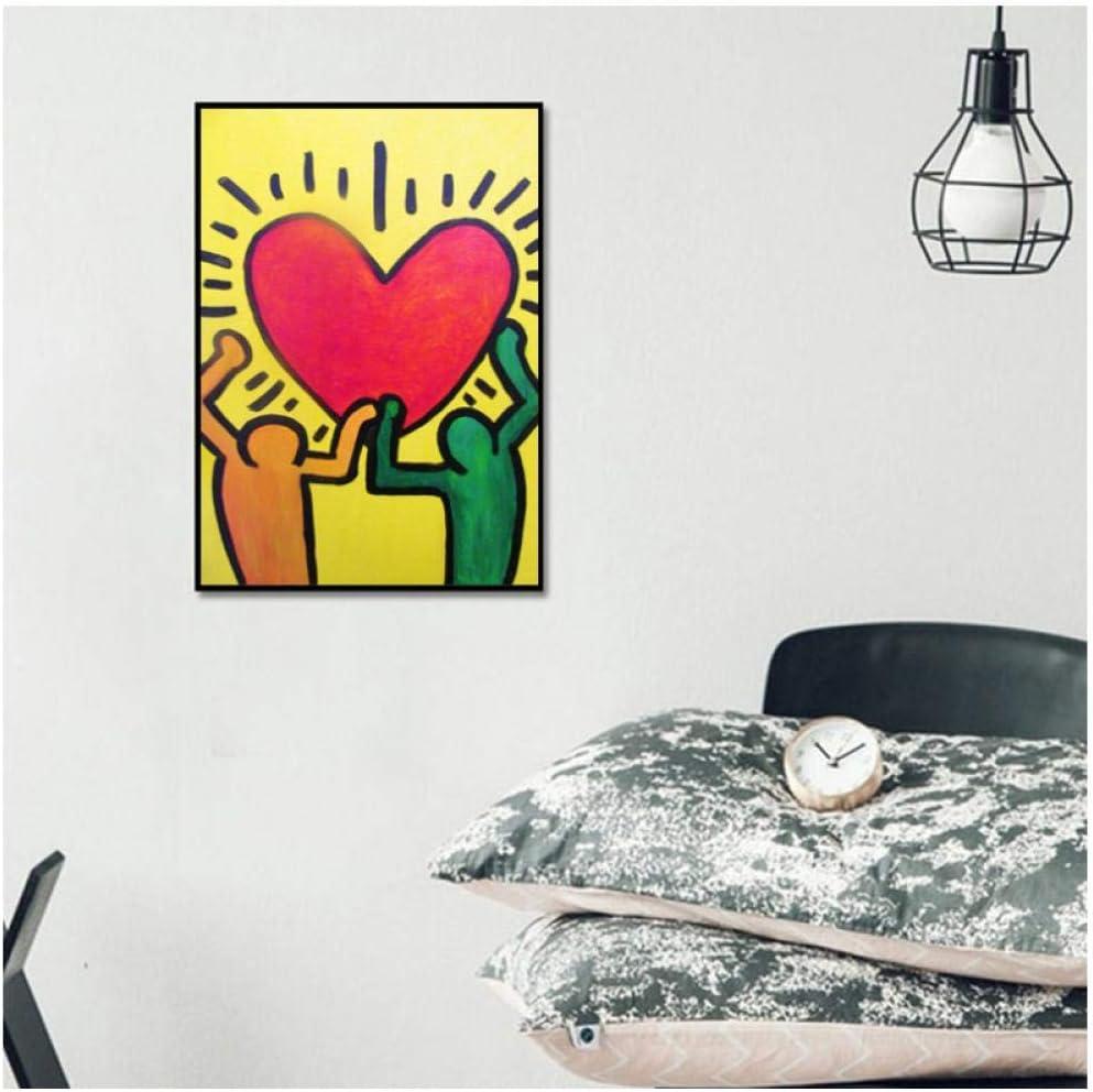 Cuadro en lienzo Cuadro famoso Amor Arte Pintura abstracta Cuadros de pared para sala Cuadros Decoración del hogar -50cmx70cm (sin marco)