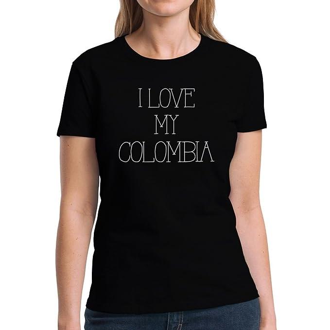 Eddany I love my Colombia Camiseta Mujer