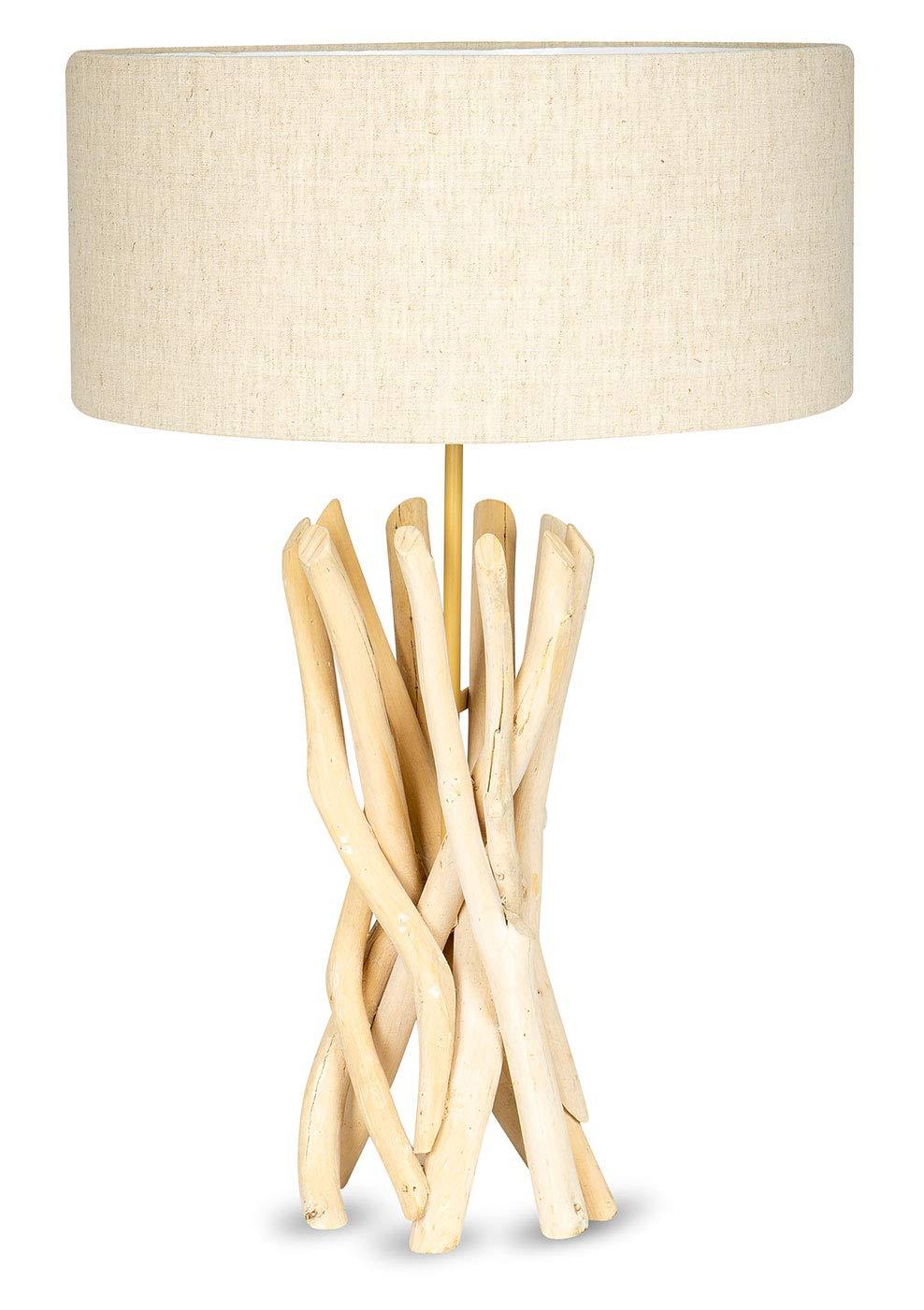 Lampe Stehlampe 62cm Hoch Holz Holzlampe Unikat Braun Treibholz