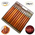 12 Pieces Carbon Steel Wood Carving Tools Kit for Rubber, Pumpkin, Soap, Vegetables, etc. Crafting Chisel Set with Storage Case