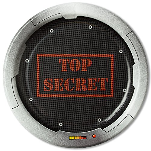 BirthdayExpress Top Secret Spy Party Dessert Plates (8) ()