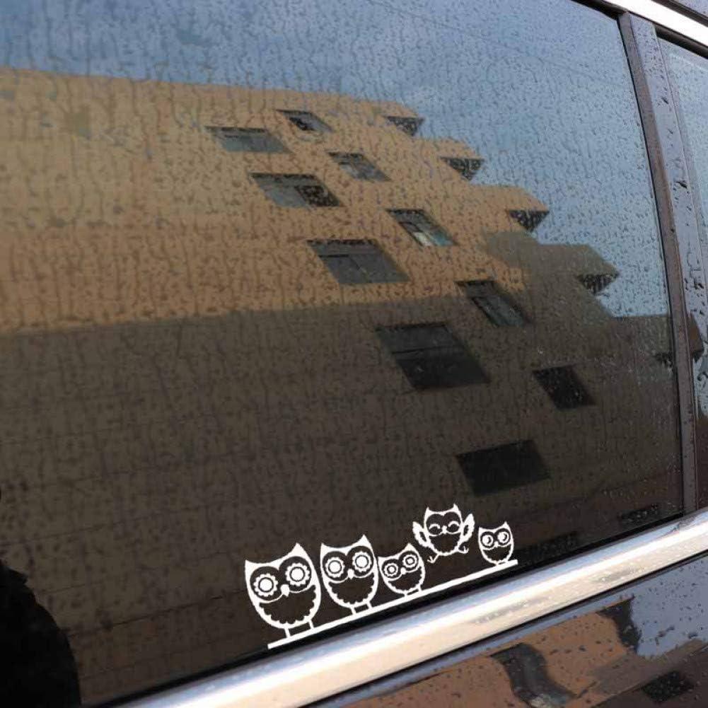 5.9CM Eulenfamilie Autoaufkleber Lustiger Vinyl-Aufkleber LKW-Fenster Silber Autoaufkleber ZhuHZ Autoaufkleber 16.5CM