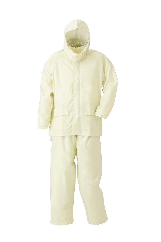 スミクラ アメダスレインスーツ 全2柄 全5サイズ 上下スーツ アイボリー M 防水 反射テープ付き フード着脱式 [正規代理店品] B01B1JB4X0 Medium|アイボリー アイボリー Medium