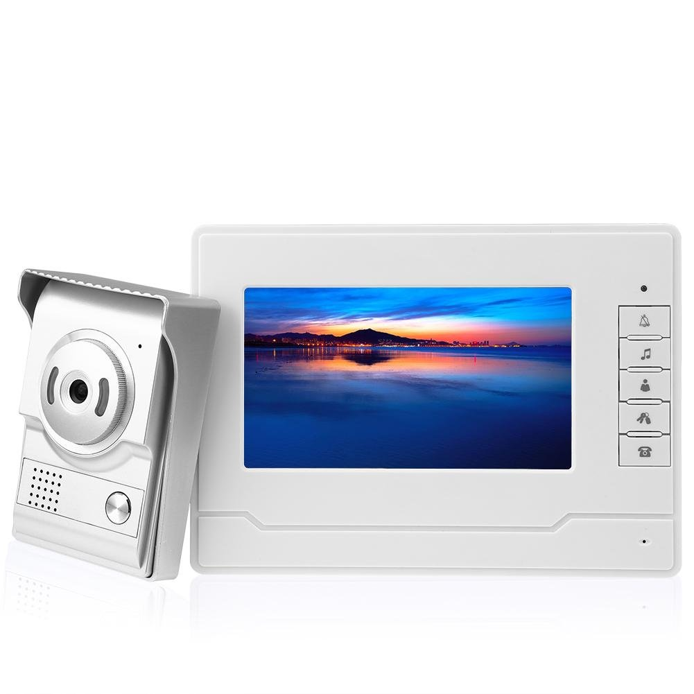 VANPOWER Digital CMOS 700TVL TFT LCD Night Vision Speak Video Intercom Doorbell(US)