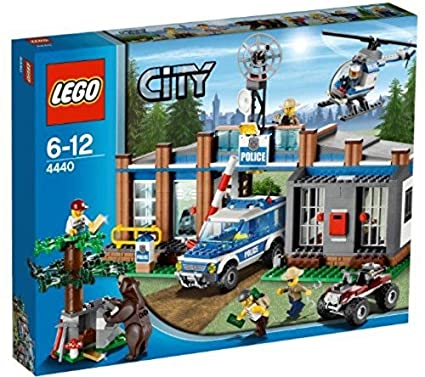 Amazoncom Lego City Forest Police Station W Helicopter 5