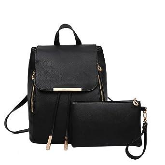 Amlaiworld Bolsos mochila de mujer niñas mochila de viaje Mochila de cuero para mujer Bolsa para