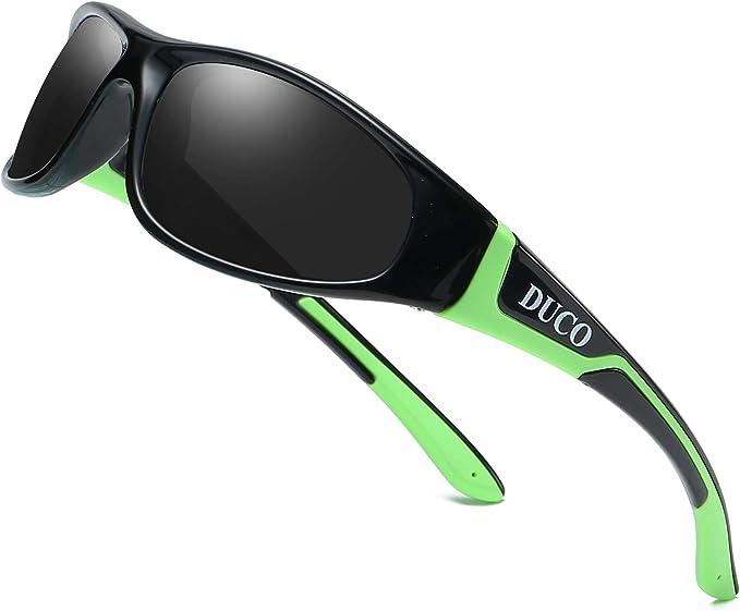 DUCO TPEE Kids Sport Polarized Sunglasses For Kids Boys Girls Rubber Flexible Frame Sunglasses UV Protection