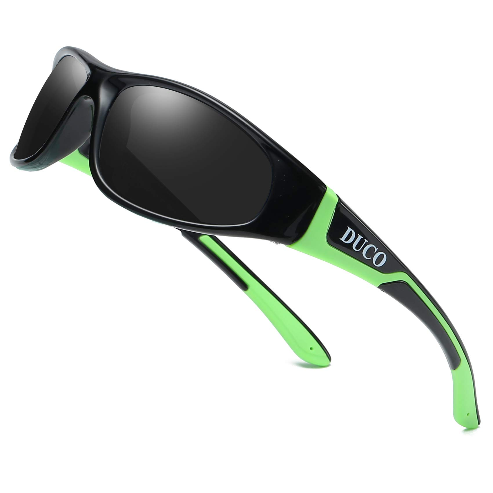 Duco Kids Sports Style Polarized Sunglasses Rubber Flexible Frame For Boys And Girls K001