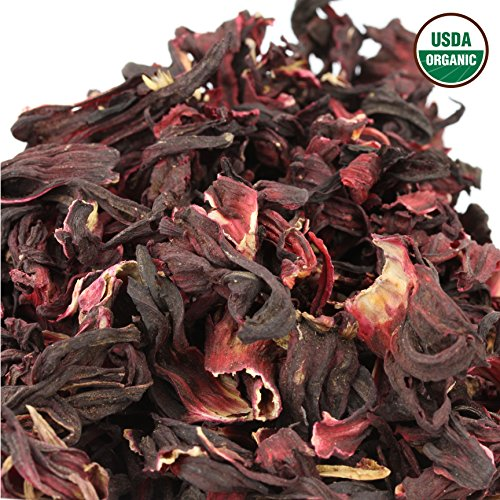 Hibiscus Tea 1LB (16Oz) 100% CERTIFIED Organic Hibiscus Flowers Herbal Tea (WHOLE PETALS), Caffeine Free in 1 lbs. Bulk Resealable Kraft BPA free Bags from U.S. Wellness by U.S. Wellness Naturals (Image #3)
