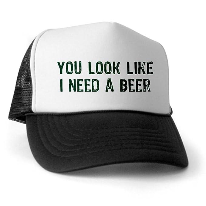 3c644e6e CafePress - I Need A Beer Trucker Hat - Trucker Hat, Classic Baseball Hat,