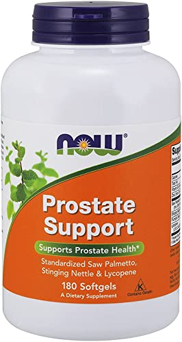 NOW Supplements, Prostate Support, Prostate Support, with Standardized Saw Palmetto, Stinging Nettle Lycopene, 180 Softgels