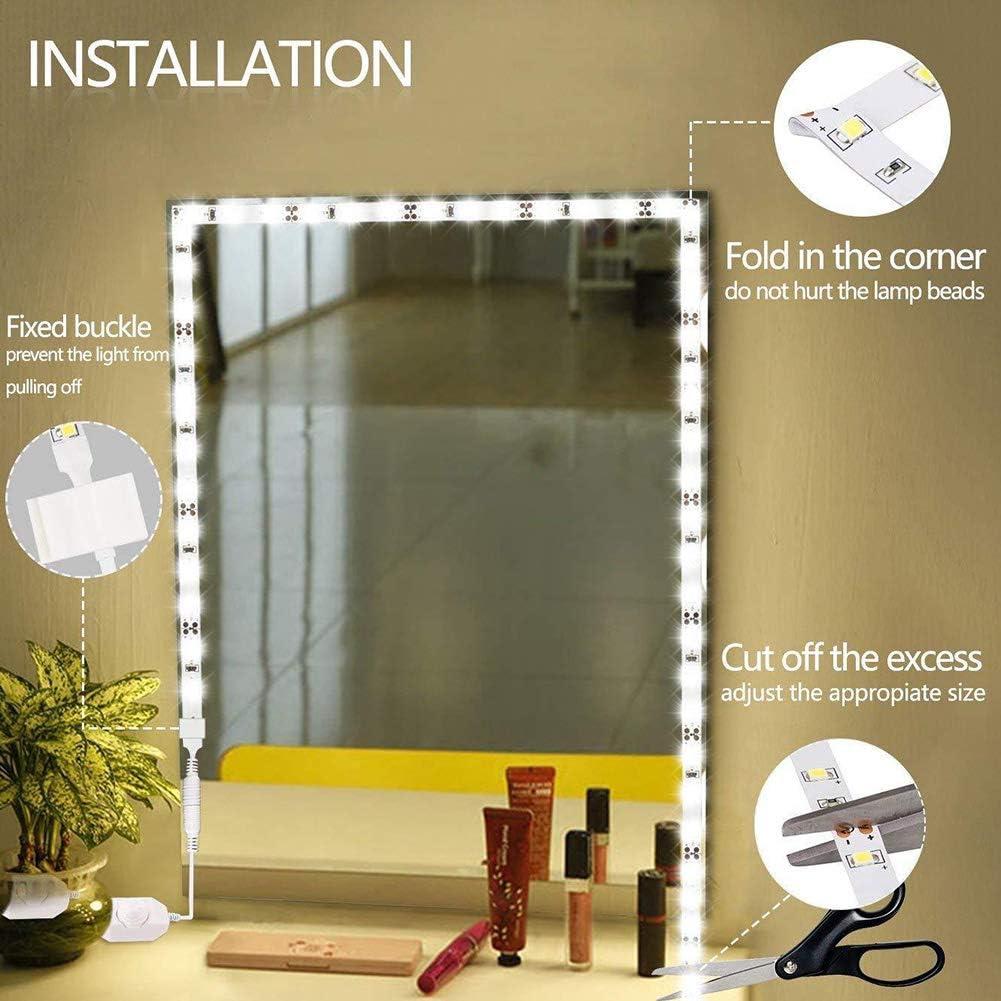 CCSUN Estilo hollywood 60 leds regulable espejo luces kits de, Ul ...