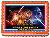 Star Wars Force Awakens Personalized Edible Cake Topper Image -- 1/4 Sheet