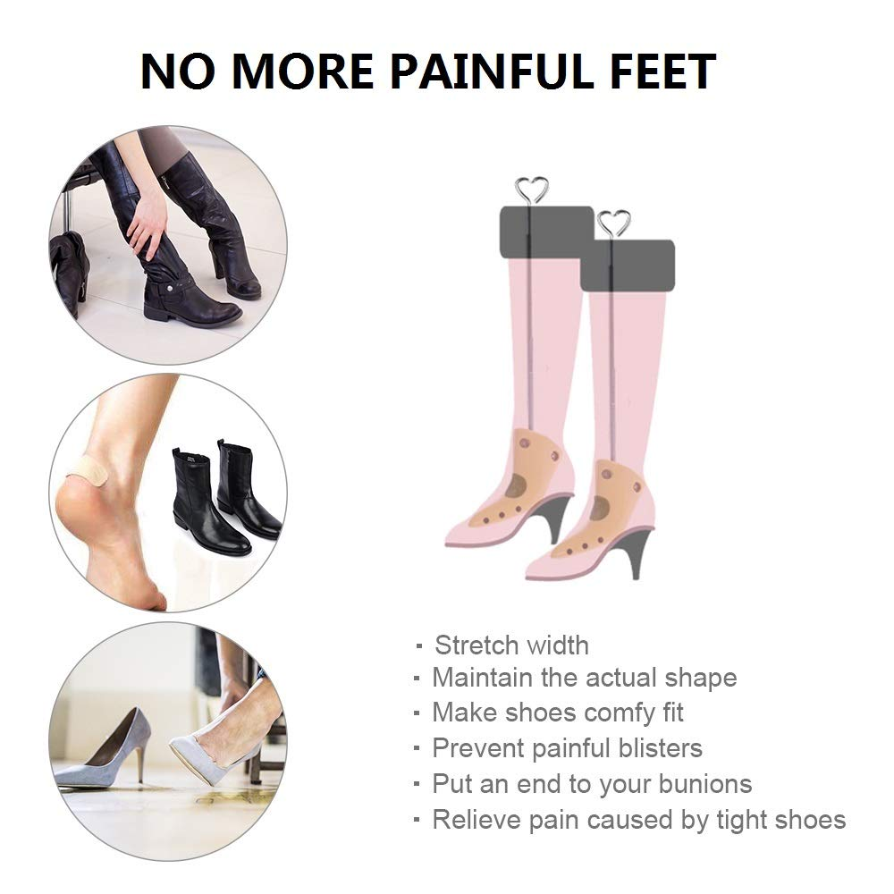 Women Wide Feet Shoe Widener Plastic Adjustable Expander Alritz Boots Stretcher