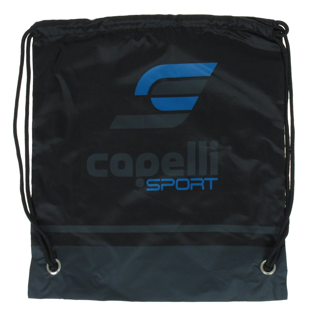 Capelliスポーツドローストリングバックパック B007D18QKA  ブラックコンボ