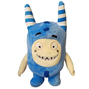 Oddbods Large 30cm Plush Soft Cuddly Toy Newt Bubbles Pogo Zee Jeff Fuse Slick (Blue