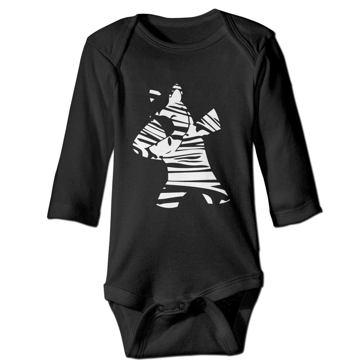 Cute Cotton Bodysuit Romper Jumpsuit To45Pa/& Unisex Baby Dabbing Zebra Long Sleeve Bodysuit
