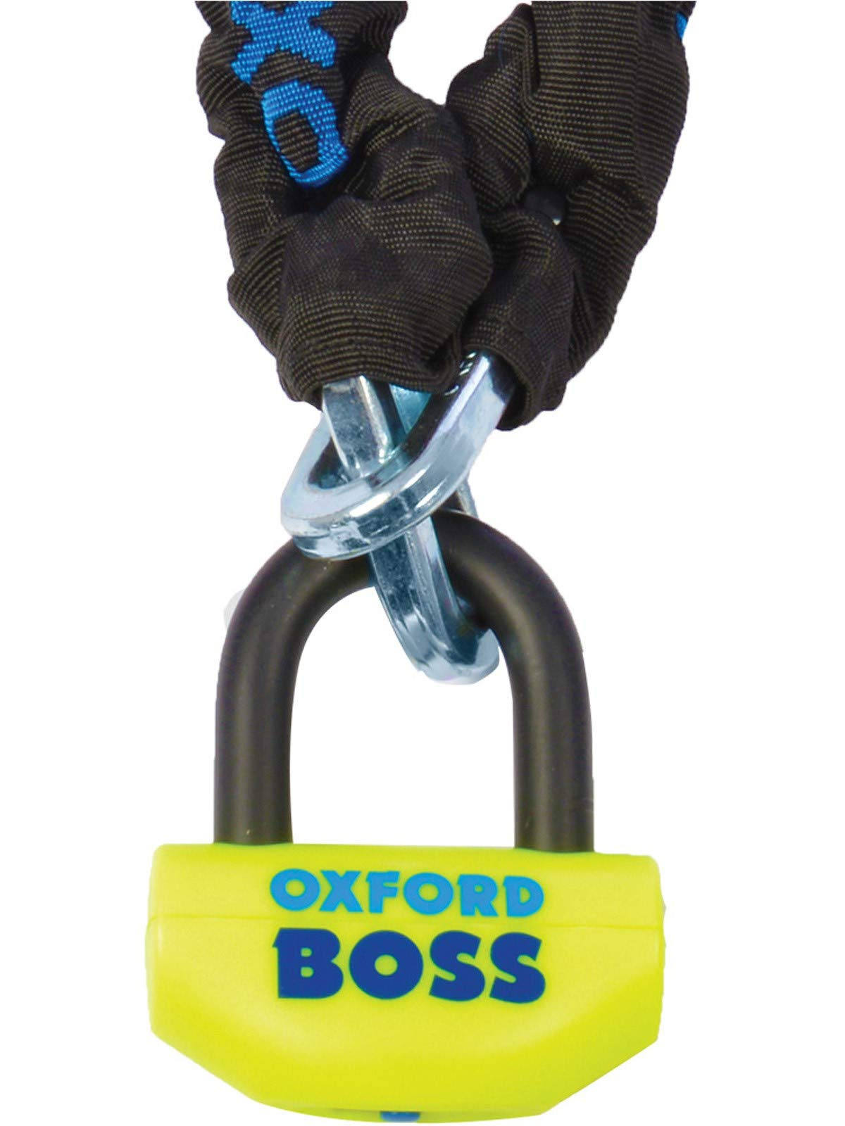 Oxford OF806 Boss Chain Lock Universal Yellow 2.0m Double Locking System Moto
