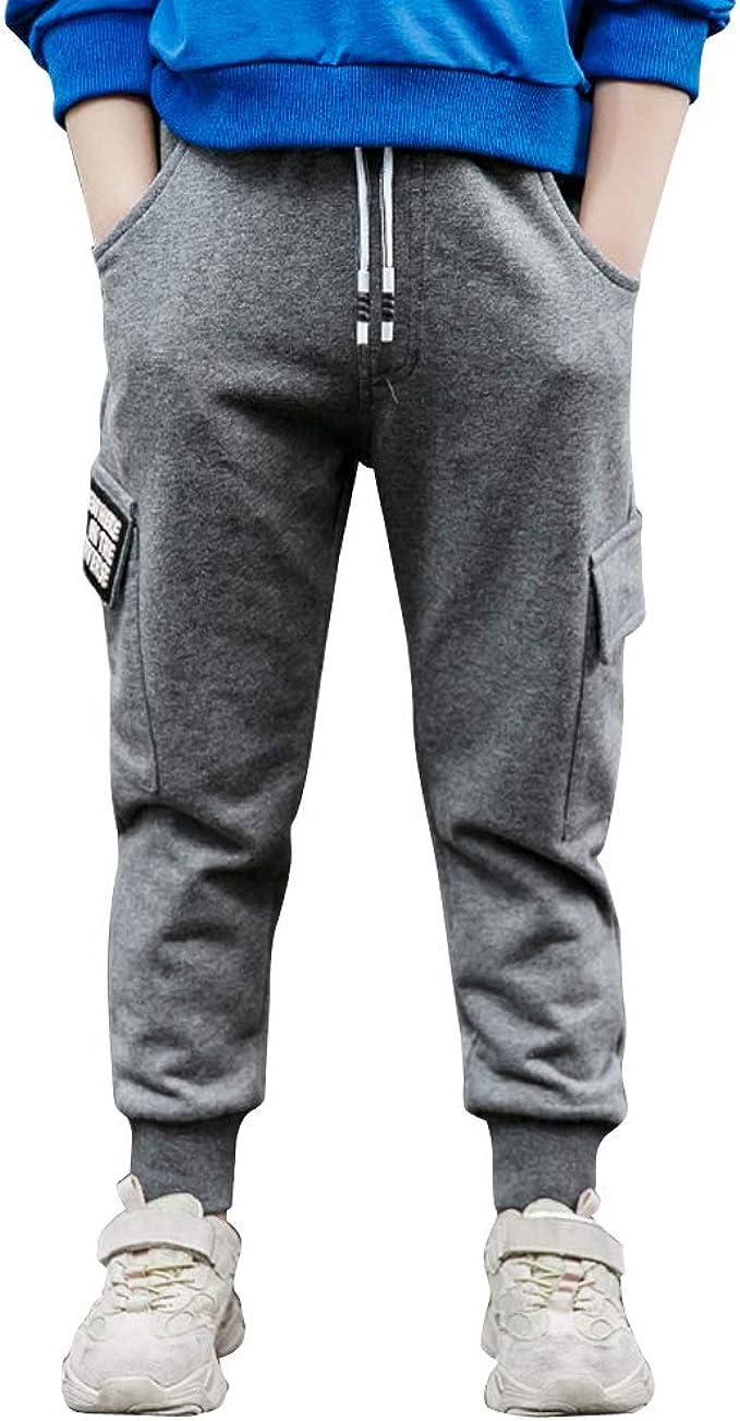 LAPLBEKE Niño Cargo Pantalones Deportivos De Chándal Joggers ...