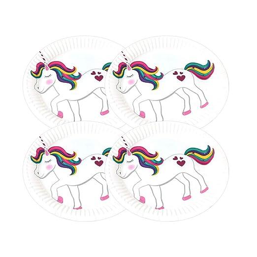 UPKOCH 10 unids 7 pulgadas cumpleaños Unicornio fuentes del ...