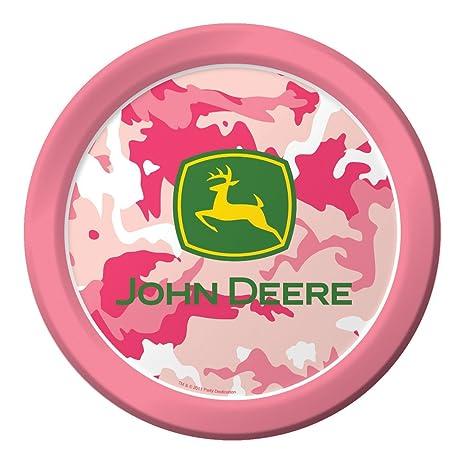 Amazon.com   Creative Converting John Deere Pink Dinner Paper Plates ...