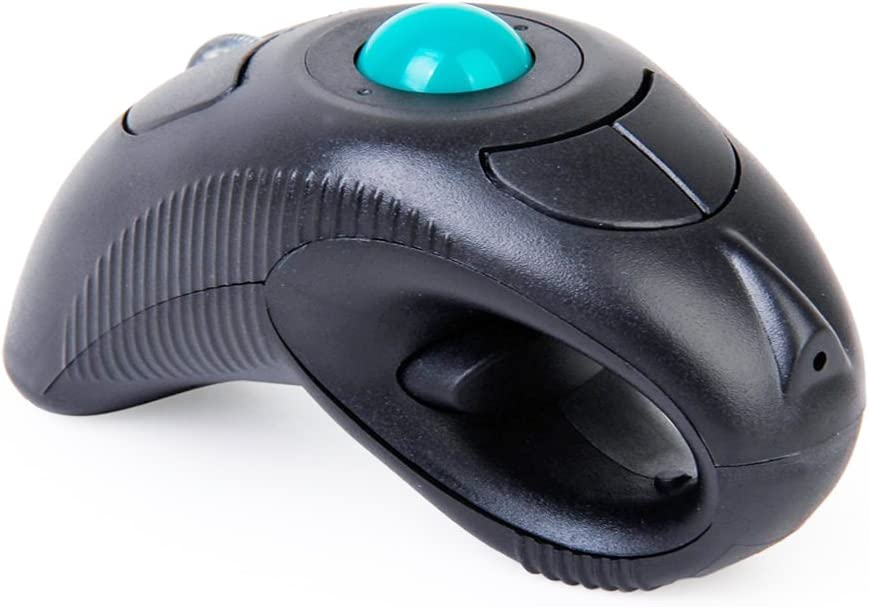Skyshadow 10M 2.4GHz USB Left//Right Handheld Wireless Finger Handheld Mouse Optical Trackball Mouse