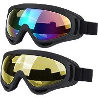 JTENG Skidglasögon skyddsglasögon motocross glasögon sportglasögon snö glasögon vintersportglasögon vindtät dammskydd…