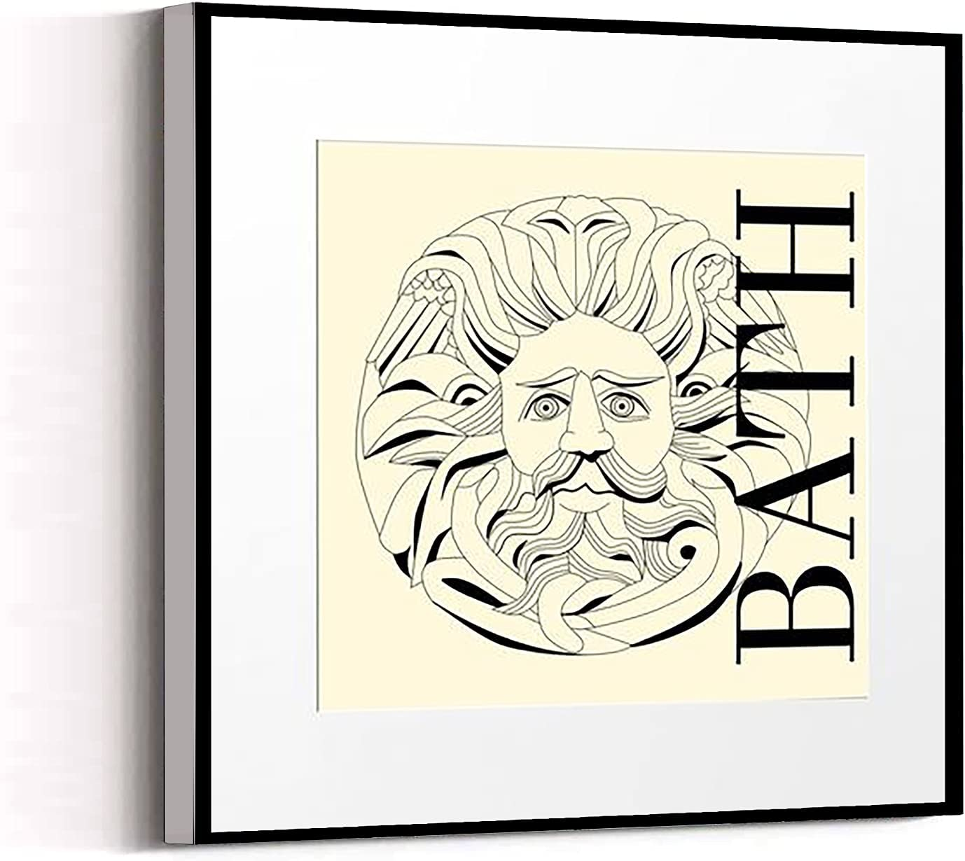 PICTURE FOR HOME DECORATION room decor cheap Bathroom wall art with Sun God 16''x16'' Framed Modern Canvas Wall Art Canvas Prints Home Artwork Decoration for Living Room