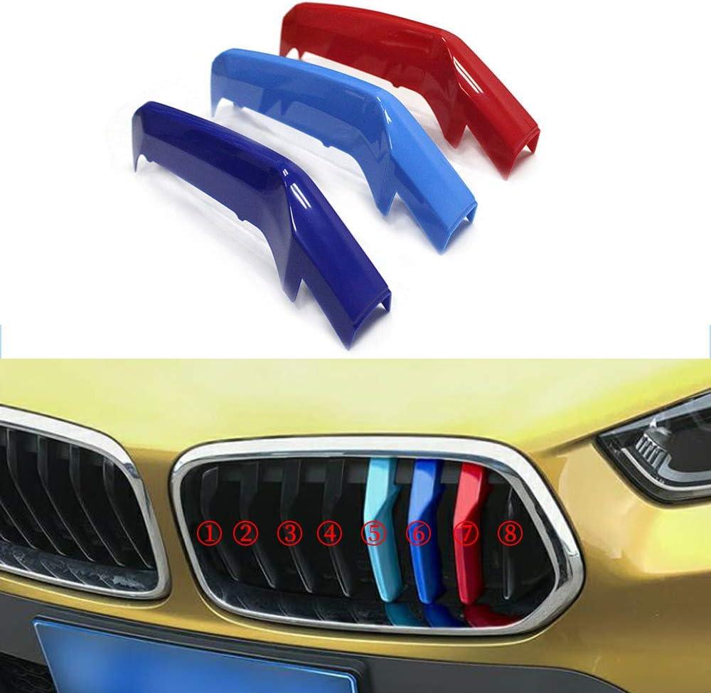 Grill Inserire copertine Per 2 Series Active Tourer F46 218i 220i 2015-2017 3 Pezzi M colore Adesivi per griglia anteriore 10 Rod Clip di Grille del rene