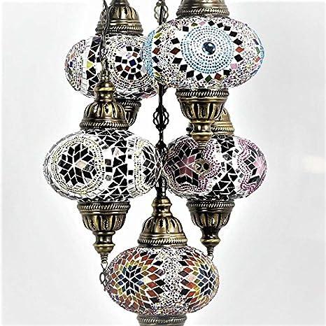 Lámparas de araña - Lámpara de techo de mosaico turco ...