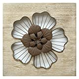 Stratton Home Decor SHD0168 Flower Wall Decor, Rustic Review