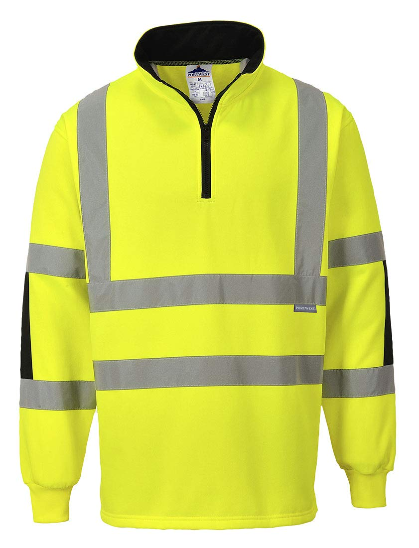 Portwest Xenon Rugby Sweatshirt Pullover Jumper Safety Reflective Work Wear Warm Top ANSI 3, 5XL Yellow by Portwest (Image #4)