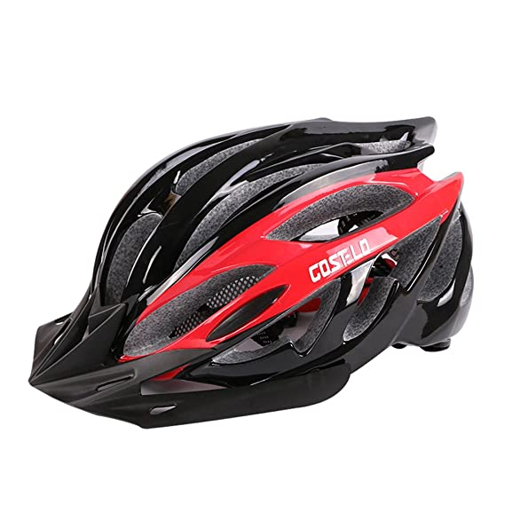 Sombrero extraíble Casco de la bici, casco de ciclo ajustable del deporte Cascos de la bicicleta de la bici para el camino y el Biking de la montaña, ...