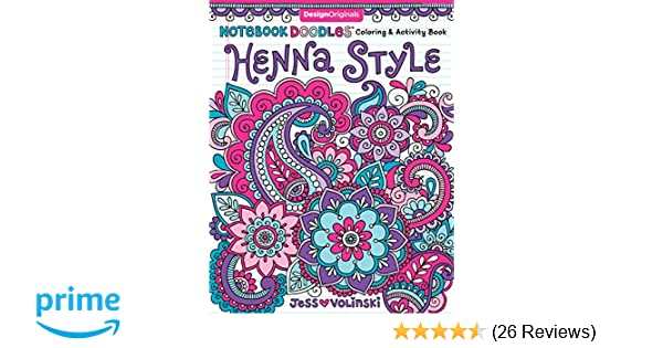 Notebook Doodles Henna Style Coloring Activity Book Design