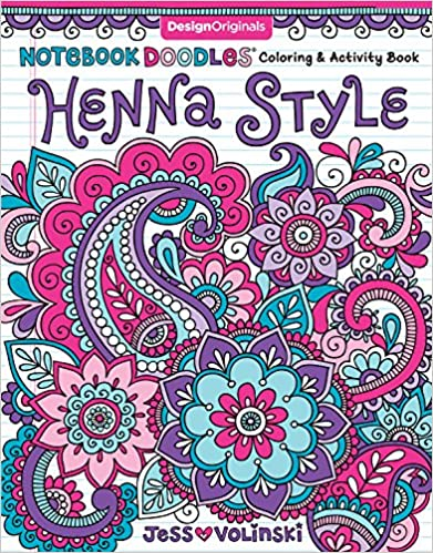 Notebook Doodles Henna Style Coloring Activity Book Design Originals 32 Decorative Art Designs Beginner Friendly Soothing Inspiring Activities