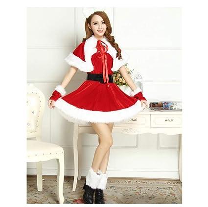 Amazon.com: Santa Claus Costume Womens Short Jacket Tube ...