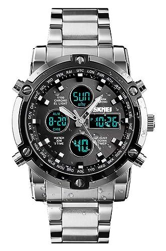 68b52c482e3f Reloj analógico Digital para Hombres - Reloj Deportivo Militar para Hombre  con Alarma Cuenta Regresiva