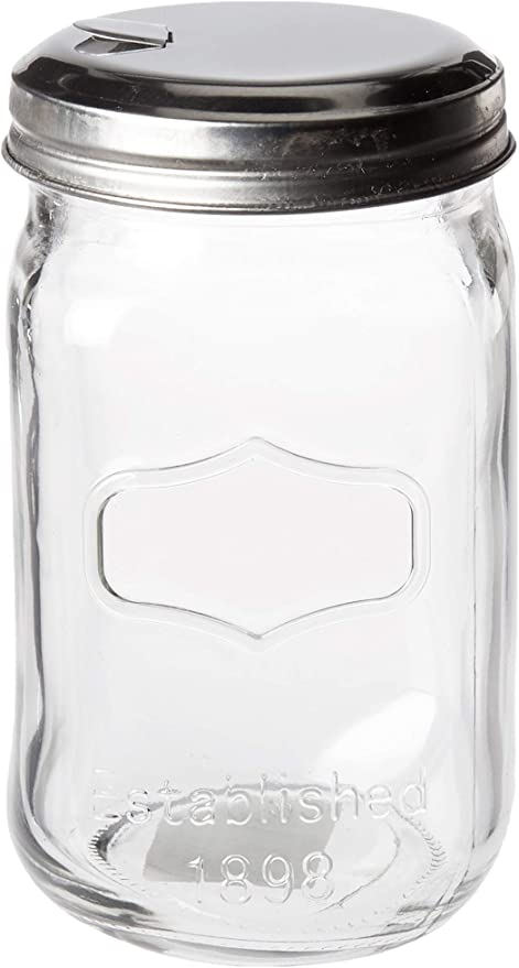 Amazon Com Circleware Yorkshire Mason Sugar Jar Glass Canister With Metal Lid Home Kitchen Glassware Food Preserving Storage Container For Coffee Tea Spices Cereal And Farmhouse Decor 18 25 Oz Clear Kitchen Dining
