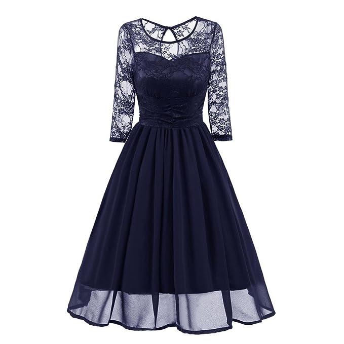 vestidos mujer, Sannysis vestidos de fiesta, vestidos navidad mujer fadals casual de encaje vintage