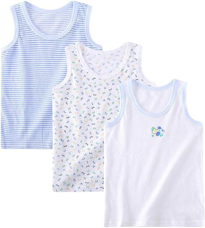 Lazzon Camiseta de Tirantes para Niños niñas Algodón Tops Camisetas Interiores sin Mangas Infantiles: Amazon.es: Ropa y accesorios