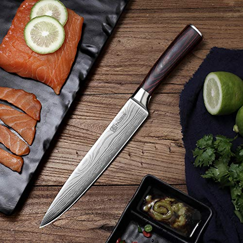 Slicing Carving Knife - PAUDIN 8 inch Chef Knife Kitchen Knife with High Carbon Stainless Steel, Ergonomic Handle with Gifted Box by PAUDIN (Image #2)
