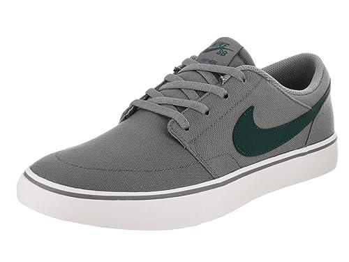 e3ae56605859 Nike Men s SB Portmore II Solar CNVS Cool Grey Dk Atomic Teal White Skate  Shoe 8.5 Men US  Buy Online at Low Prices in India - Amazon.in