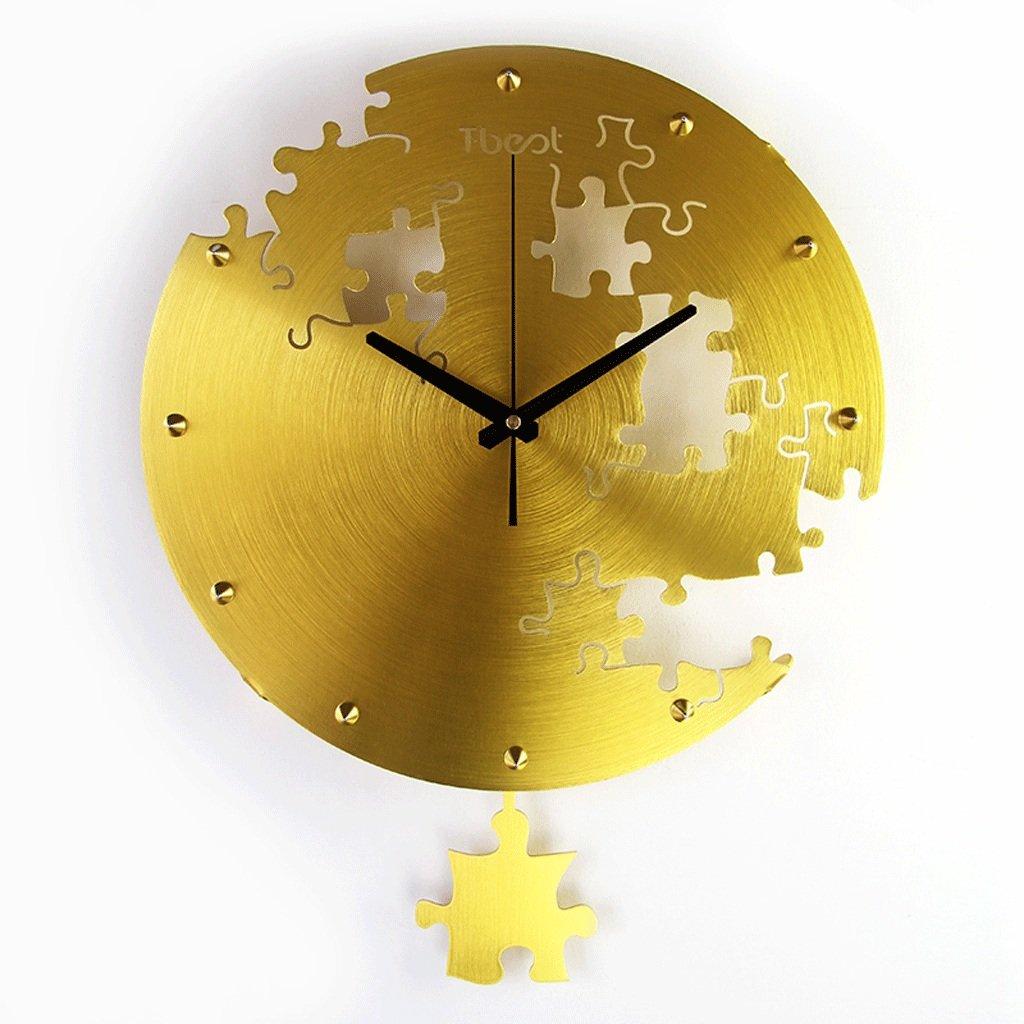 クリエイティブウォールクロックリビングルームパズルミュート吊りクロックベッドルームクォーツ時計 GAODUZI (色 : C) B07FBX4MM5C