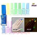 Vernis à ongles Bleu phosphorescent - brille la nuit - fluorescent UV