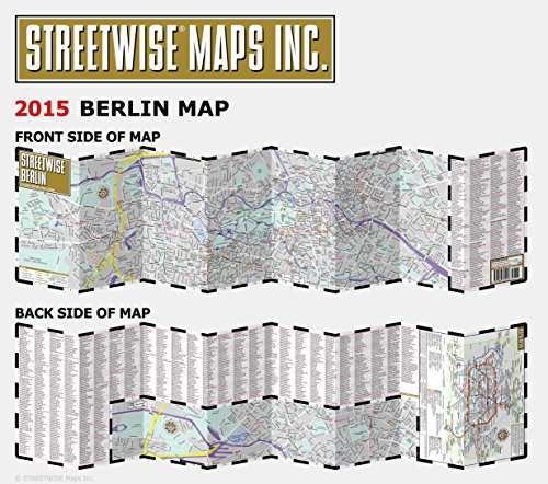 Streetwise Berlin Map Laminated City Center Street Map