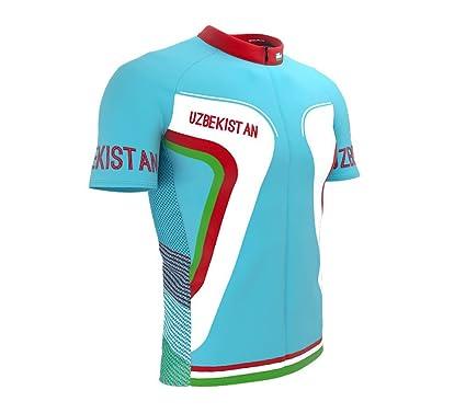 33ca83218 ScudoPro Uzbekistan Full Zipper Bike Short Sleeve Cycling Jersey for Men -  Size XS