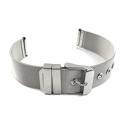Clode® Uhrenarmbänder Edelstahl Silber Uhrarmband 16mm Uhren Band; Metall Uhr Armband