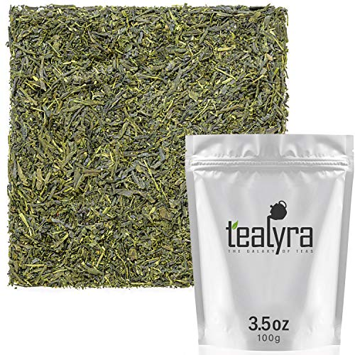Tealyra - Sencha Kakegawa - Japanese Green Tea - The Best Japanese Tea - Organically Grown in Japan - Loose Leaf Tea - Caffeine Medium - 100g - Kagoshima Japan
